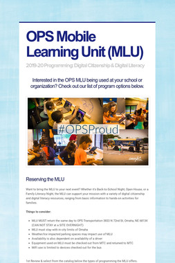 OPS Mobile Learning Unit (MLU)