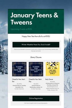 January Teens & Tweens