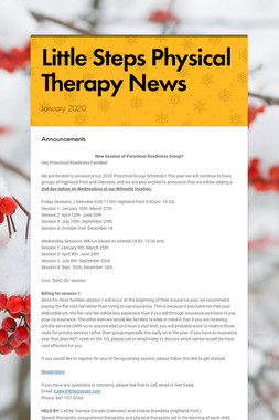 Little Steps Physical Therapy News