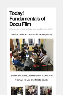 Today! Fundamentals of Docu Film