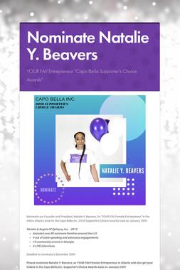 Nominate Natalie Y. Beavers