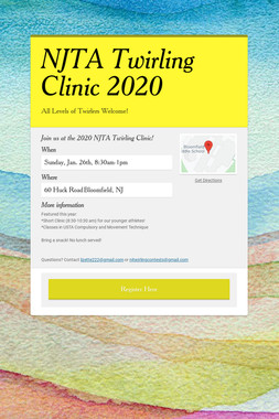 NJTA Twirling Clinic 2020