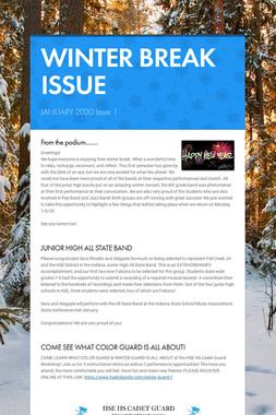 WINTER BREAK ISSUE