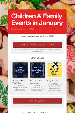 Children & Family Events in January