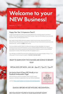 Welcome to your NEW Business!