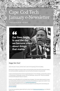 Cape Cod Tech January e-Newsletter