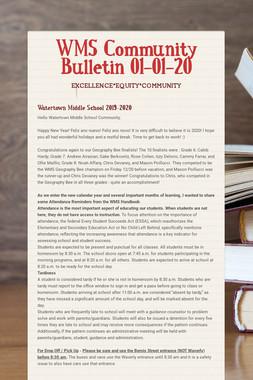 WMS Community Bulletin 01-01-20