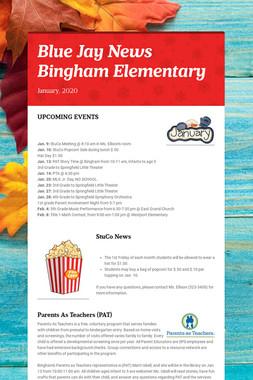 Blue Jay News   Bingham Elementary