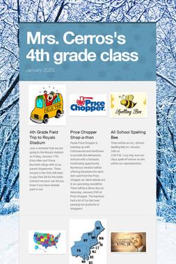 Mrs. Cerros's 4th grade class