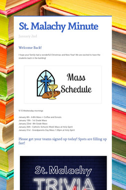 St. Malachy Minute