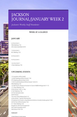 JACKSON JOURNAL/JANUARY WEEK 2