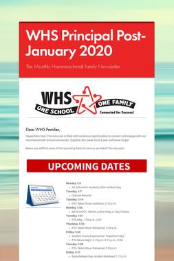 WHS Principal Post- January 2020