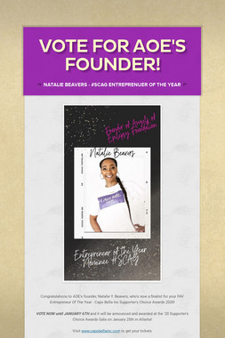 VOTE FOR AOE'S FOUNDER!