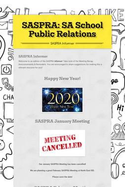 SASPRA: SA School Public Relations