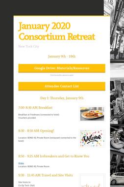 January 2020 Consortium Retreat