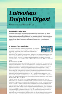 Lakeview Dolphin Digest
