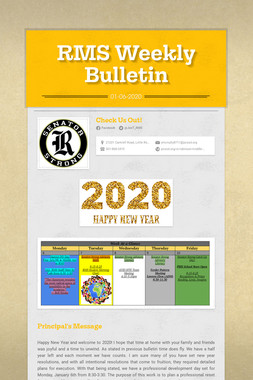 RMS Weekly Bulletin