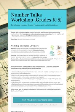 Number Talks Workshop (Grades K-5)