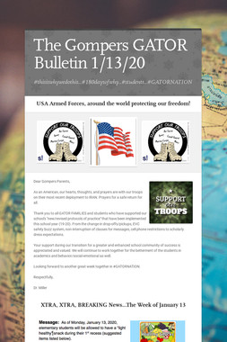 The Gompers GATOR Bulletin 1/13/20