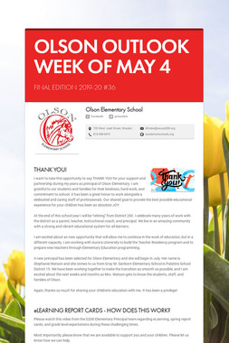 OLSON OUTLOOK   WEEK OF MAY 4