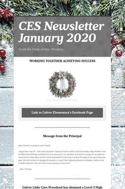 CES Newsletter January 2020