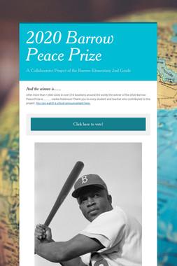 2020 Barrow Peace Prize