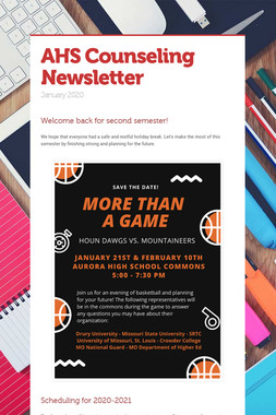 AHS Counseling Newsletter