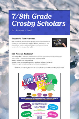 7/8th Grade Crosby Scholars