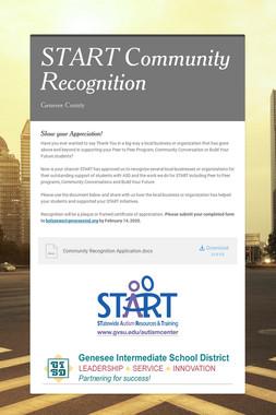 START Community Recognition
