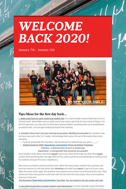 WELCOME BACK 2020!
