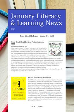 January Literacy & Learning News
