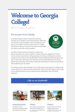 Welcome to Georgia College!