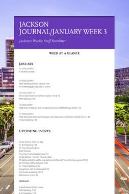 JACKSON JOURNAL/JANUARY WEEK 3