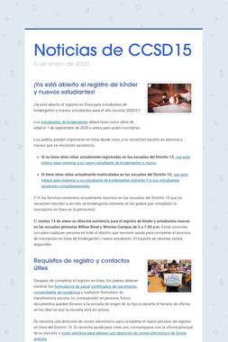 Noticias de CCSD15