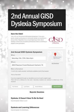 2nd Annual GISD Dyslexia Symposium