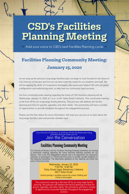 CSD's Facilities Planning Meeting