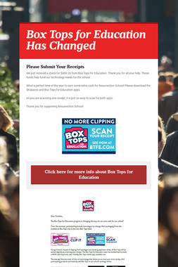 Box Tops for Education Has Changed