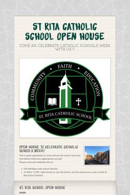 ST RITA CATHOLIC SCHOOL OPEN HOUSE