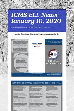 JCMS ELL News: January 10, 2020