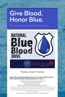 Give Blood. Honor Blue.