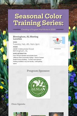 Seasonal Color Training Series: