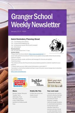 Granger School Weekly Newsletter