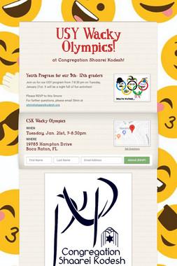 USY Wacky Olympics!