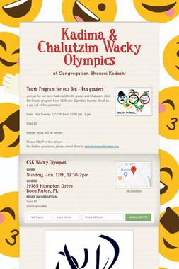 Kadima & Chalutzim Wacky Olympics