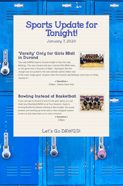Sports Update for Tonight!