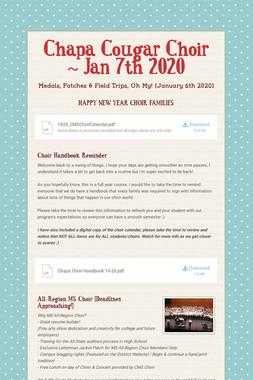 Chapa Cougar Choir ~ Jan 7th 2020