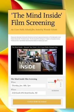 'The Mind Inside' Film Screening