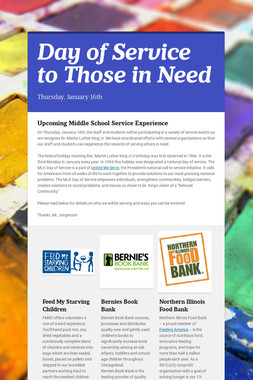 Day of Service to Those in Need