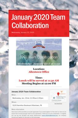 January 2020 Team Collaboration