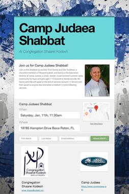 Camp Judaea Shabbat